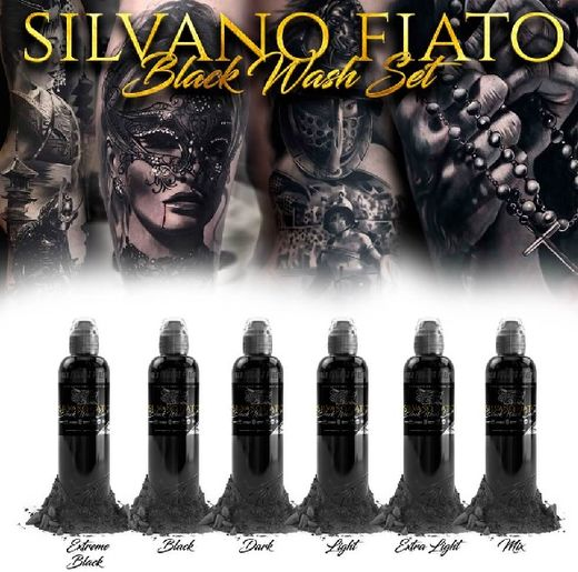 silviano fiato black wash set